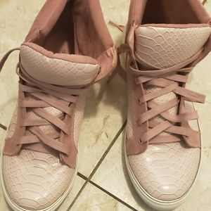 "Just fab pink ""mauve""color sneakers"